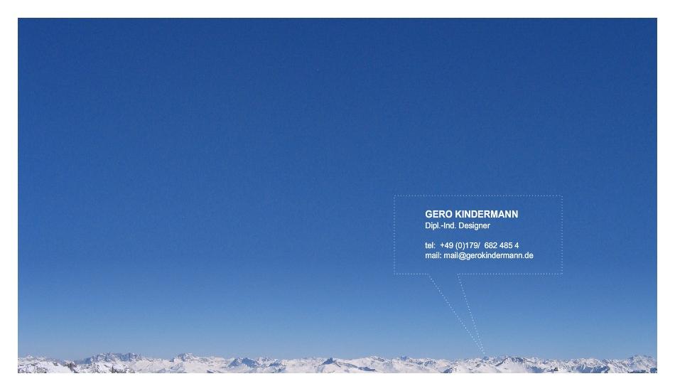 gero kindermann, design